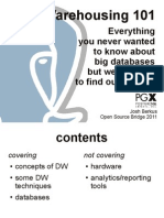 Datawarehousing 101