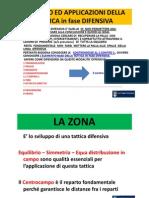 Lezione Tecnica Calcistica - Zona e Sviluppi in fase di Non Possesso/Possesso