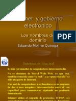 Internet y Gobierno Electronico (Nombres de Dominio)