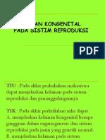 2.Kelainan Kongenital Pada Sistim Reproduksi