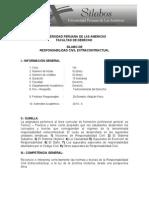 SILABO Responsabilidad Civil Extracontractual - Dr. Villaizán