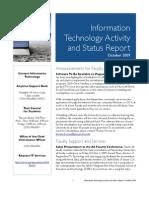 October 2009 IT Status Report