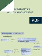 Actividad Optica de Los Carbohidratos