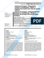 NBR NM-ISO 3310-1 - Peneiras de ensaio û Requisitos tÚcnicos e verificaþÒo - Parte 1 - Peneiras d