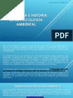 NATURALEZA E HISTORIA DE LA PSICOLOGÍA AMBIENTAL