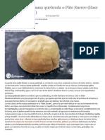 Como preparar masa quebrada o Pâte Sucree