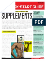 Men's Health Muscle Supplements Guide
