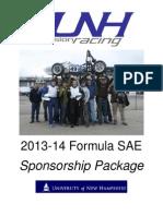 2014 UNH Precision Racing Sponsorship
