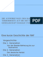 Die Auswirkungen Des RAF-Terrorismus Auf Die Deutsche Gesellschaft