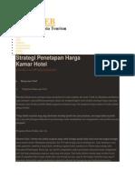 Strategi Penetapan Harga Kamar Hotel