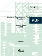 CIGRE Guide for Transformer Fire Safety Practices