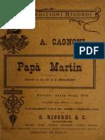 Papà Martin; libretto in tre atti (1890)