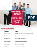 Woolworths Limited - HY14 Analyst Presentation