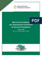 Manual de Acreditação das Organizações Prestadoras de Serviços Hospitalares
