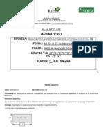 Plan de Clase de Matematicas II Del 03 Al 07 de Marzo de 2014