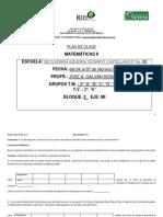 PLAN DE CLASE DE MATEMÁTICAS II DEL 4 AL 7 DE FEBRERO 2014