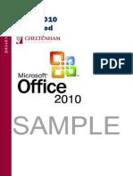 Sample Excel 2010 Advanced Manual