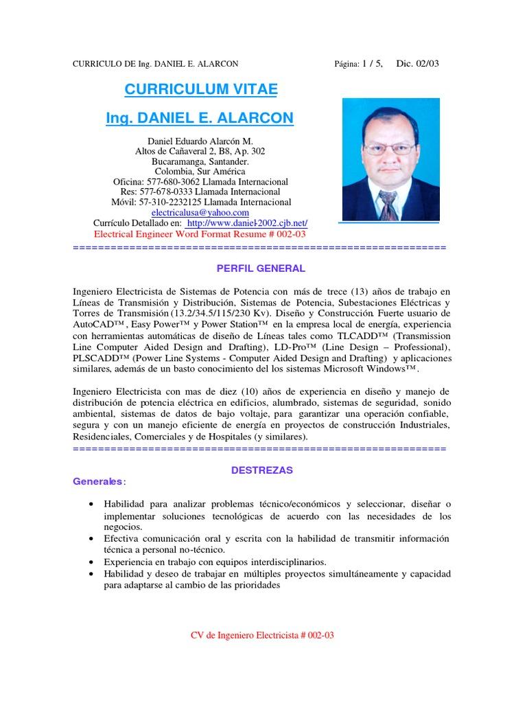 Encantador Currículum Funcional Para Electricista Oficial Festooning ...
