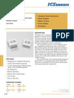 ICS 3022 Accelerometer Datasheet