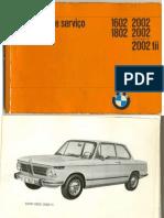 Manual de Servicio BMW 1602 1802 2002 2002A 2002tii