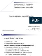 TGA - Teoria Geral da Administração