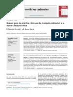 Nuevas guías de práctica clínica de la «Campana˜ sobrevivir a la sepsis - Diciembre 2013 MED INTENSIVA