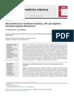 Desconexión de la ventilación mecánica. ¿Por qué seguimos buscando metodos alternos Dic 2013