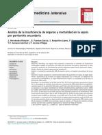 Análisis de la insuficiencia de órganos y mortalidad en la sepsis por peritonitis secundaria Oct 2013