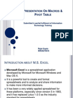 Presentation on Macros & Pivot Table2