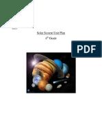 Solar System Unit Plan Final