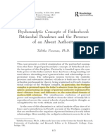Psychoanalytic Concepts of Fatherhood-Patriarchal Paradoxes and the Presence of an Absent Authority – Tabitha Freeman, Ph.D.