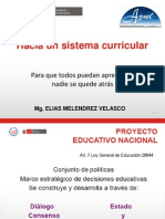 Hacia Un Sistema Curricular