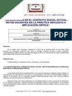 Agustin Duran Caballero La Ed en El Contexto Social