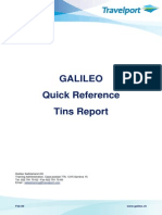 Galileo Quick Reference Tins Report