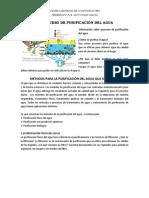 EL PROCESO DE PURIFICACIÓN DEL AGUA