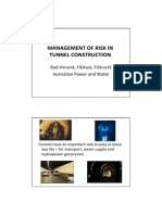 6 Risk Management for Tunneling Works