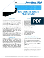 PacketMATE 1000 E1 Router Datasheet