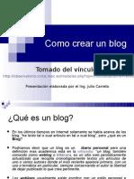 Presentacion Del Blog