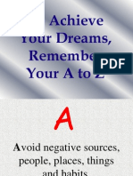 A to Z to Achieve Your Dreams