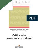 U Autónoma Barcelona Crítica a la economía ortodoxa LIBRO