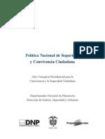 Política Nacional de Seguridad y Convivencia Ciudadana