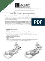 Hip Bursitis Exercise Sheetssm