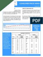 Consumer Price Index - Jan 14