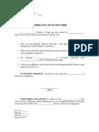 lost assignment affidavit form