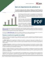 Lectura La gestión de calidad y la importancia de satisfacer al cliente