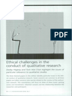 Ethical Challenges in the Conduct of Qualitative Rsearch