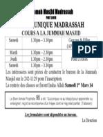 Madrassa Ladies-Admission 2014