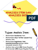 Analisis Item Dan Analisis Skor