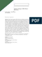 A Tutorial on Multiplierless Design of FIR Filters