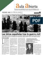 guerra civil española y literatura